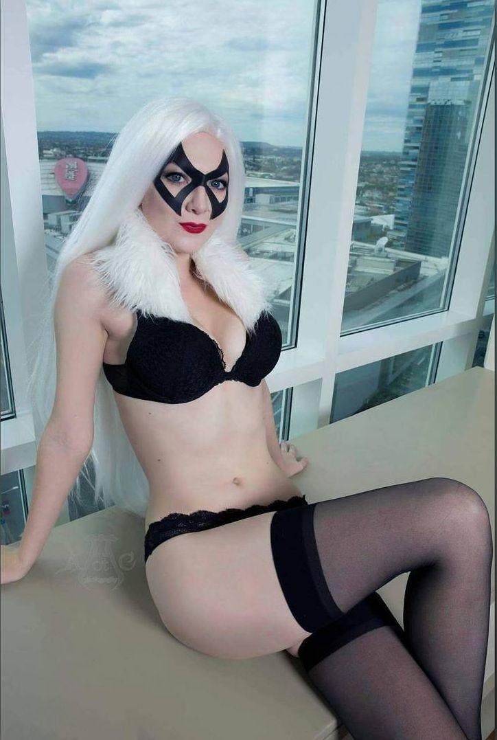 Ashlynne Dae Black Cat Lingerie Boudoir Version Cosplay