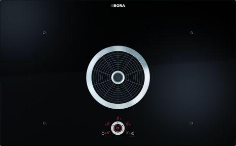 BFIA - BORA Flächeninduktions-Glaskeramik-Kochfeld mit 4 Kochzonen und Kochfeldabzug - Abluft