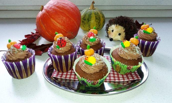 Vláčné dýňové cupcakes s čokoládovým mascarpone