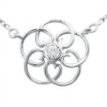 Mother's Day is coming...Intertwined Circle Of Love Topaz Necklace in 14kt White Gold