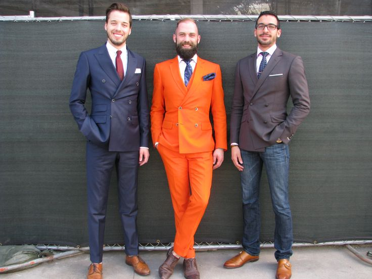 Brian Espinoza, Aaron Cordell, and Garrett Edwards in their Klein Epstein & Parker Made to Measure Suits and Clothing