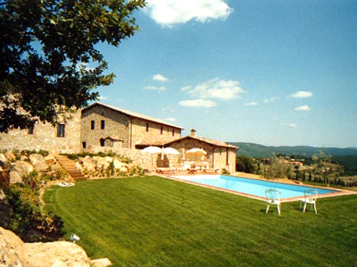 Villa Monte 3,  luxury rental villa is situated in a sprawling wine producing estate in Bucine, Siena and is built on top of two gentle hills and due to its height has an unhindered all-around view of the Tuscan valley and green hills as far as one can see. http://www.ciaoitalyvillas.com/tuscany-vacation-rentals/arezzo/bucine-villas/10088