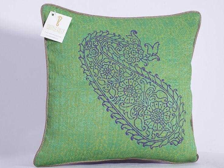 paisley design on cushion