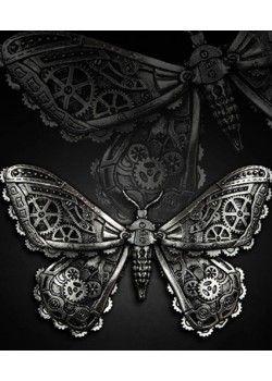 Mechanical Moth (Silver) Hair Clip