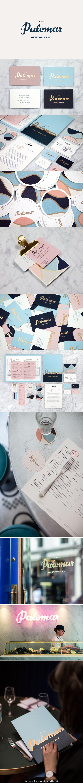 The branding for The Palomar evokes nostalgic memories of restaurants somewhere on the Mediterranean coast.