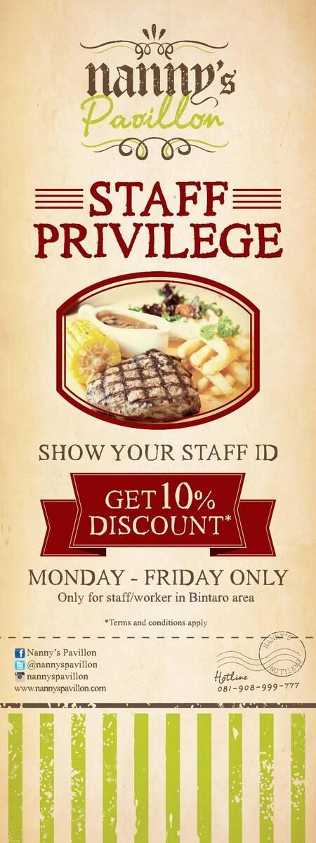 Do you work at Bintaro area? Come visit Nanny's Pavillon Playground - Bintaro Entertainment Centre (BEC) then show your staff ID and get 10% discount from Monday till Friday!