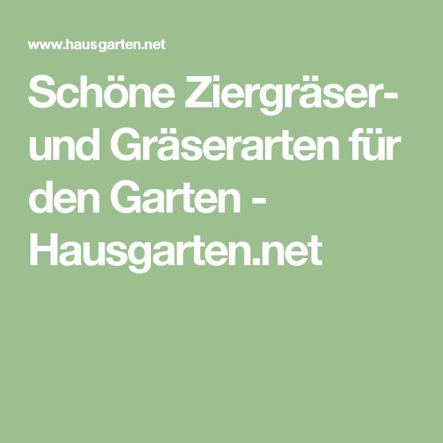 Schöne Ziergräser- und Gräserarten für den Garten - Hausgarten.net