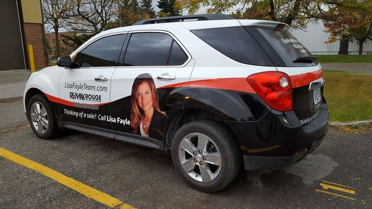 Remax Rouge River Lisa Fayle Team vehicle wrap by Speedpro Imaging Oshawa!