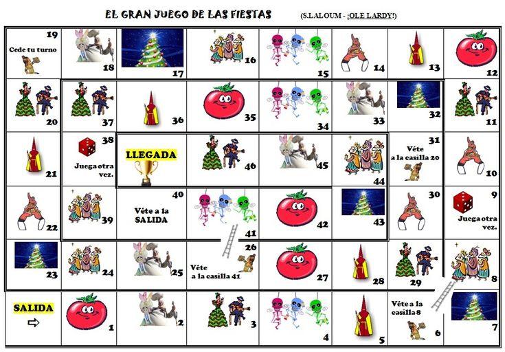 Sandrine nous envoie ce jeu qu'elle a créé sur les fêtes hispaniques. Voici une démarche très originale pour les étudier! Je vous mets en doc sa démarche et les cartes vierges. Voici une idée aussi pour les fameux EPI! Merki Sandrine!  - el gran juego...