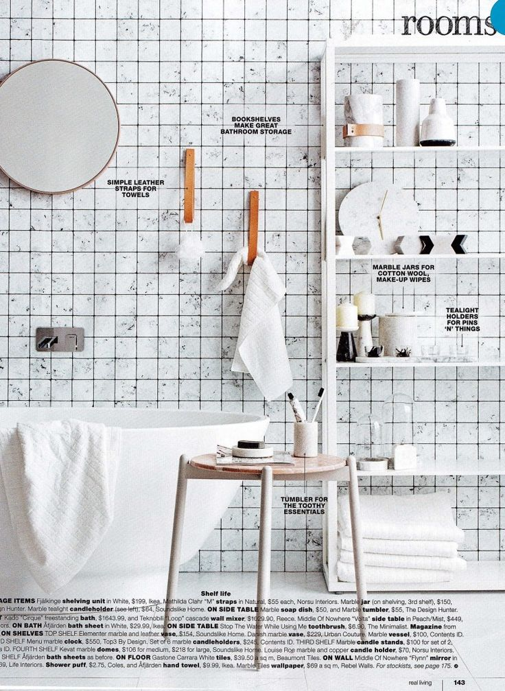 Our Rebel Walls Frontage Collection Marble Tiles Mural. In the latest Real Living Magazine. Styling Jackie Brown. Photography Felix Forest #marbletiles #wallpaper #mural #scandinavian #decor