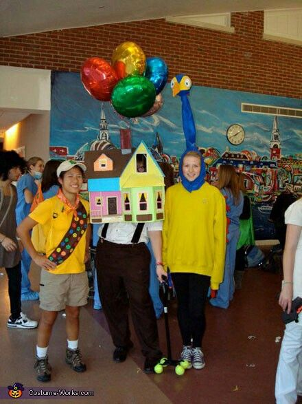 Homemade House And Carl Fredricksen From Pixars UP DIY Costume After Seeing The Movie Up When It Came Out On DVD Sometime Around November I Knew That