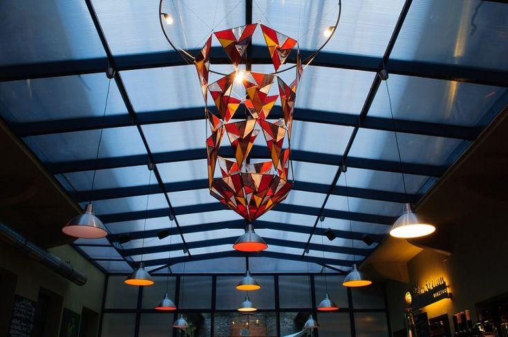 Stained glass installation by Kordvitro. Tiffany 2.0, modern design.