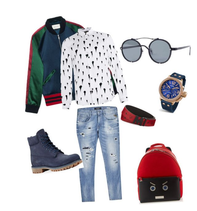Street free style by lenshop-gr on Polyvore featuring Topman, Replay, Gucci, Timberland, Fendi, TW Steel, MCM and sunglasses Stealer http://lenshop.eu/manufacturers/13612-stealer/sunglasses