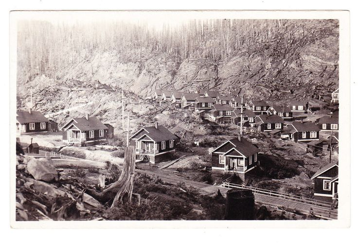 BC – ANYOX, Residential Section of Town c.1925 RPPC