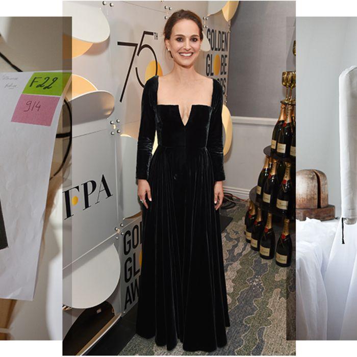 Pour la 65ème édition des Golden Globes, Natalie Portman foulait le tapis rouge en Dior haute couture. Une création all black of course dont la confection a nécessité quelques centaines d'heures de travail et plusieurs mètres de tissu. Découvrez les secrets de fabrication.