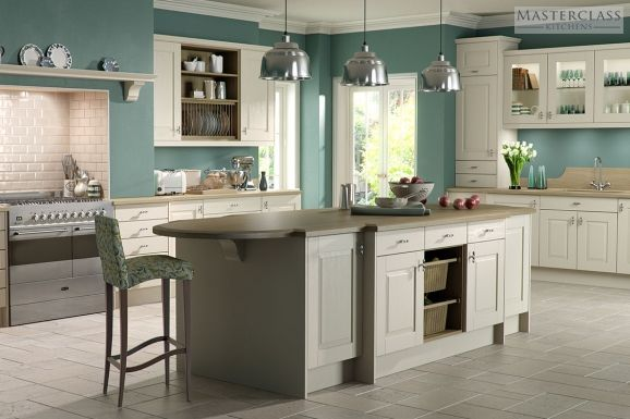 Teal kitchen