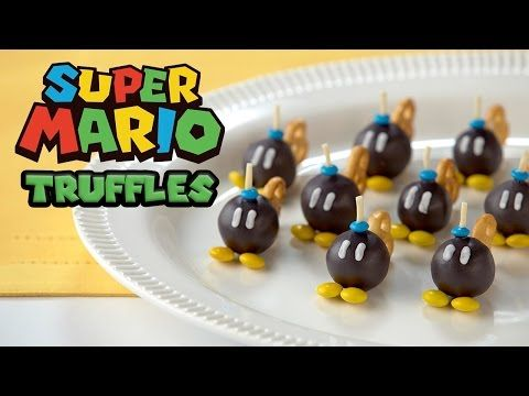 Super Mario Bob Omb Truffles Nerdy Nummies Youtube Parties In  Super Mario Super Mario Birthday Super Mario Party