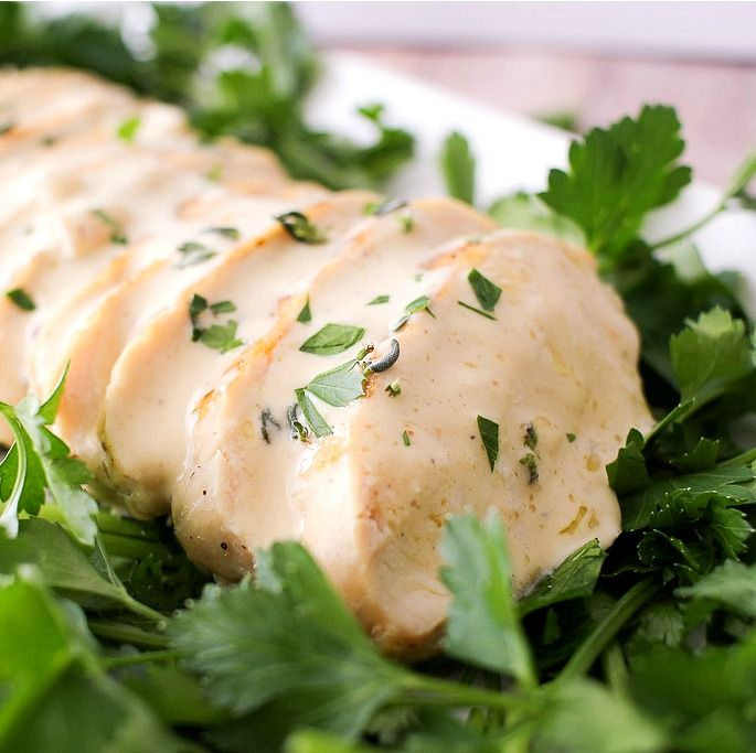 Pan Seared Chicken with a Creamy Mustard Sauce