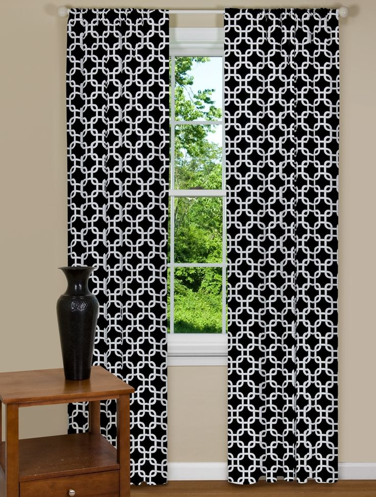 contemporary geometric pinterest black best on images and white panels curtains eclectic drapes curtain contempocurtain