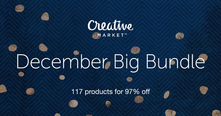 Check out December Big Bundle by on Creative Market. I am loving the holiday themes and the wallpaper patterns. Another great offering!