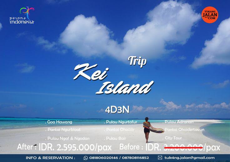 TAHUKAH ANDA ADA PANTAI DENGAN HAMPARAN PASIR TERHALUS DI DUNIA DAN SADARKAH ANDA PANTAI TERSEBUT ADA DI INDONESIA ?? Open Trip Kei Island  Libur Lebaran  7-10 Juli 2016 Hanya : 2.595.000 For details/reservation /private trip arrangement please mail to  tuk4ng.jalan@gmail.com WA : 085810697553 / 087808116852  Line : @tukangjalan
