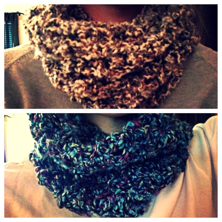 crocheted snood scarf
