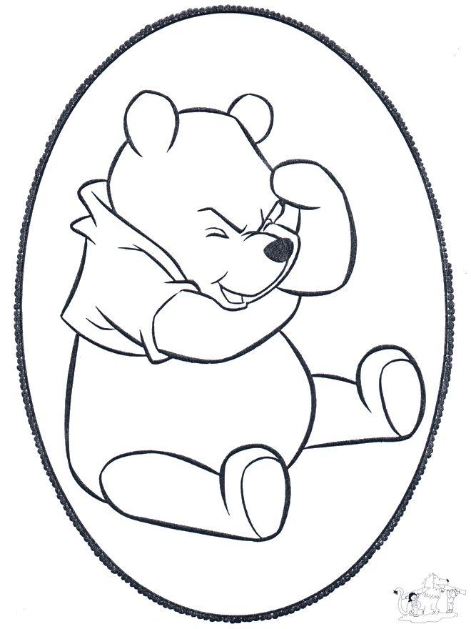 Dessin piquer winnie l 39 ourson 1 bricoler cartes - Comment dessiner winnie l ourson ...