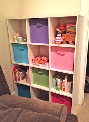 Add pops of color to your kids' room with colorful Fabric Drawers