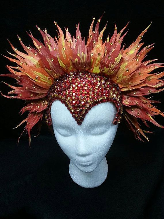 20% OFF SALE Flaming Phoenix Headress