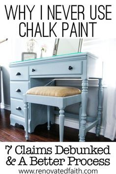 Why I Don't Use Chalk Paint on Furniture – Best Latex Paint for Furniture!