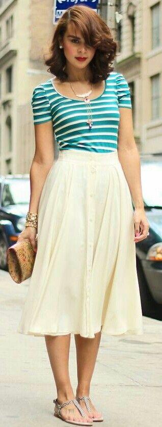 Classy vintage style look