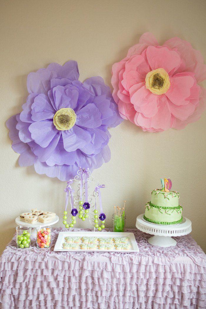 Tinkerbell + Fairy themed birthday party via Kara's Party Ideas | KarasPartyIdeas.com | Cake, Printables, Favors, Games, and MORE! (7)