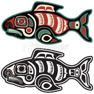 salmon http://www.istockphoto.com/stock-illustration-8649645-native-american-salmon.php