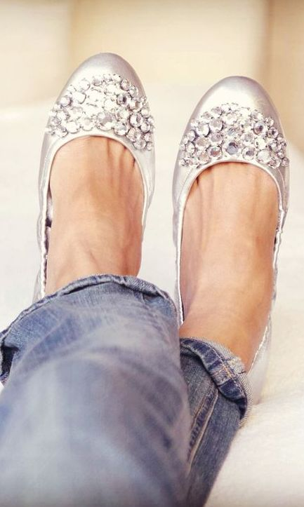 Sparkle flats. i'm in love! Perfect for a Casa Larga Bride! www.casalarga.com/weddings