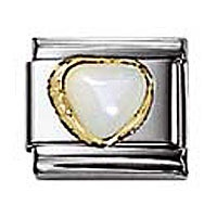 Nomination Mother of Pearl Heart charm | Contemporary Jewellery at Affordable Prices | Xen Jewellery Design