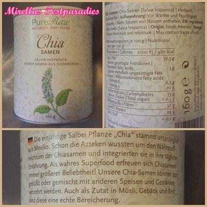 Die Chia-Samen von Pure Raw.