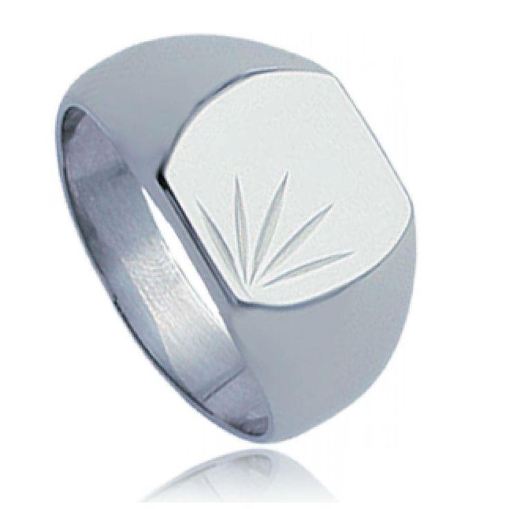 Men stainless steel Giaros signet rings