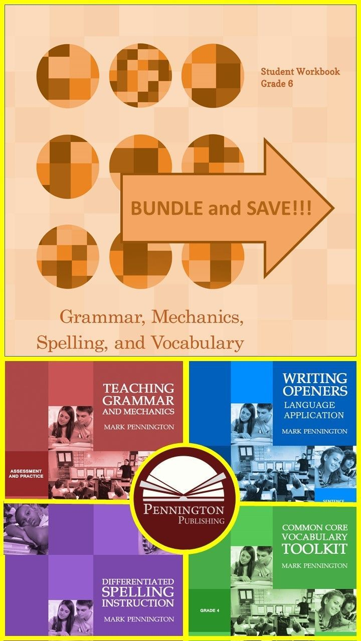 Grammar Mechanics Spelling And Vocabulary Grades 4 5 6 7 And 8 Bundles Spelling Instruction Common Core Vocabulary Grammar [ 1280 x 720 Pixel ]