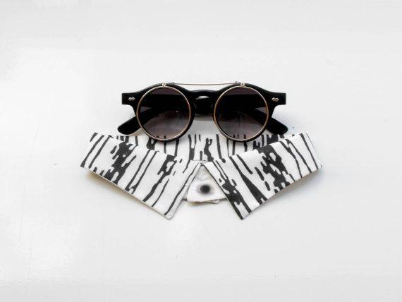 Knock on Wood / Black Detachable Handprinted Collar by HostSudios, €17.00
