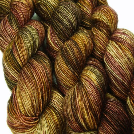 sw wool nylon sock yarn SHANTYTOWN hand dyed by lanitiumexmachina, $20.00