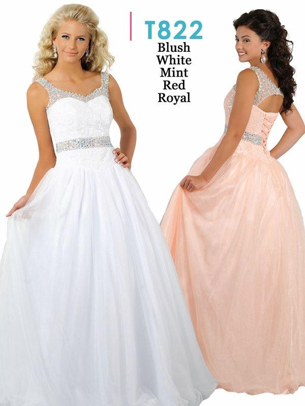 d8b1e4c05 Ritzee Tweens Teen T822 V-neck Beaded A-line Pageant Dress ...