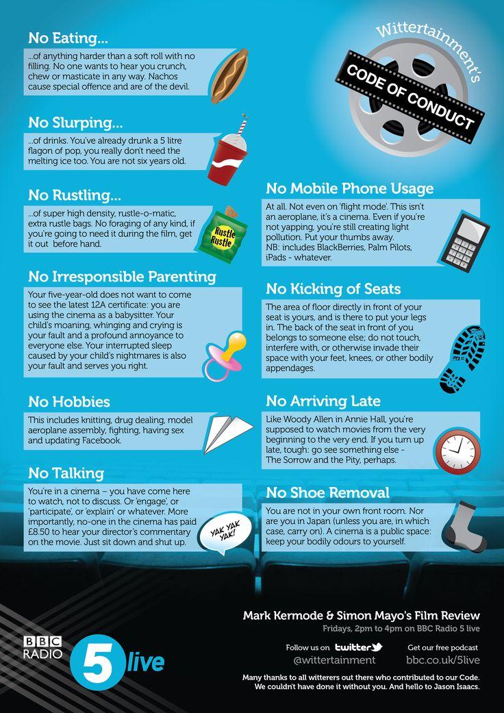 movie watcher's code of conduct
