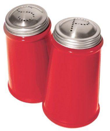 Oggi Salt And Pepper Shaker Set With Stainless