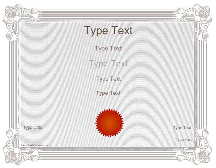 25+ parasta ideaa Pinterestissä Blank certificate - blank certificates template