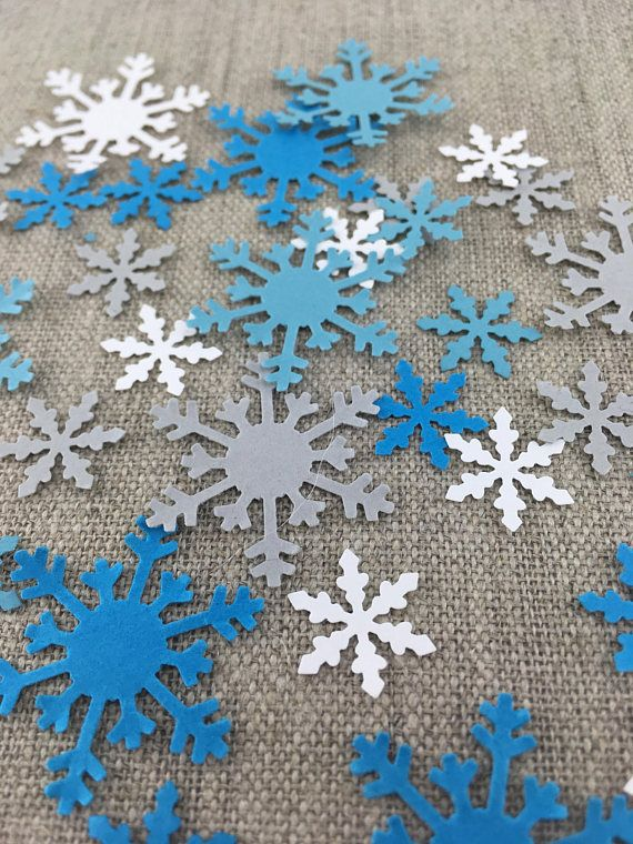 Frozen decor Frozen confetti Winter wonderland Frozen themed party Confetti Frozen table scatter snowflakes 150 pieces frozen confetti