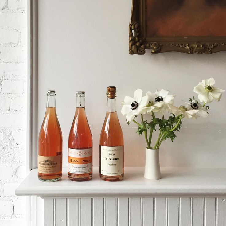 Rosé Pét-Nat and anemones - the makings of a perfect Sunday.