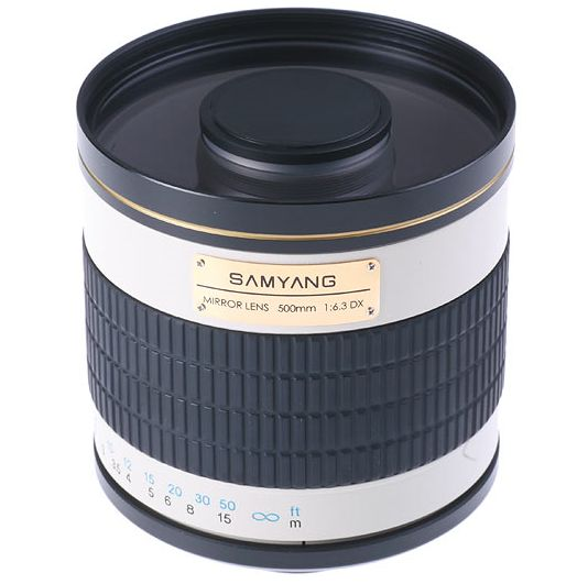 Samyang 500mm MC IF f/6.3 Mirror is an incredible reflex obejct lens constructed especially to extreme zoomings.