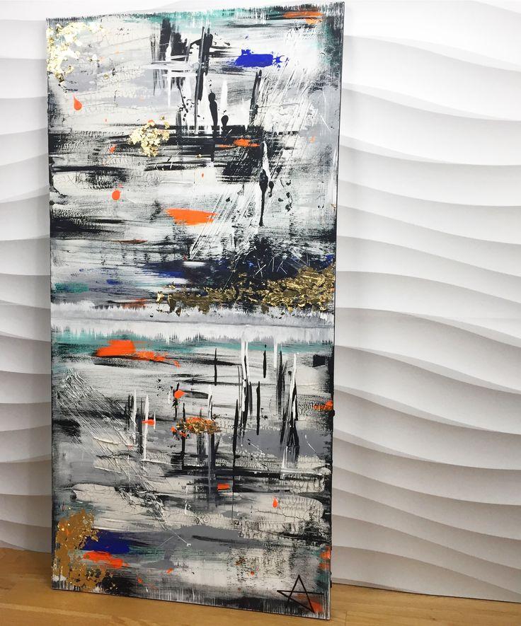 Voilà ! Création terminé 🤗🎨 Vive La créativité 💪🏻❤️ Dimension 60.9 cm x 121.9 cm  #loveart #peinture #artabstrait #bonheur😊 #funcolors #funtextures #enjoy😎