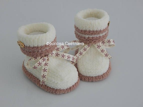 Baby booties  Baby boy Baby girl Knitted baby booties baby