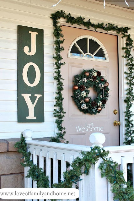 "DIY ... ""JOY"" sign for front door entry"